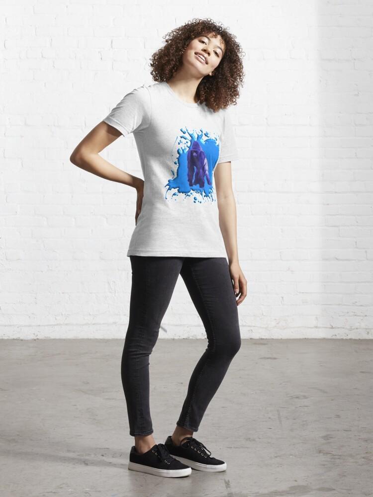 Alternative Ansicht von Blue Gorilla 3D Essential T-Shirt