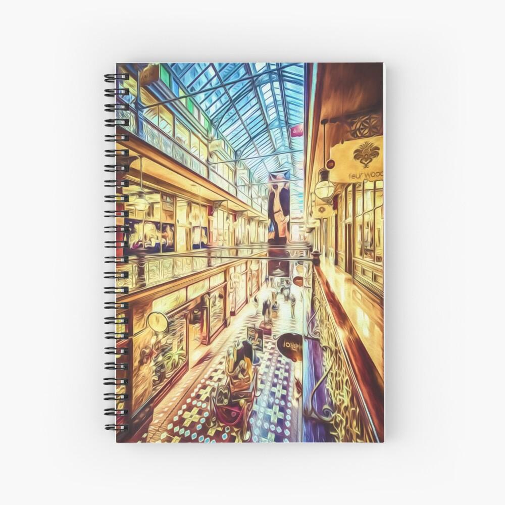 Antique Arcade (digital painting) Spiral Notebook