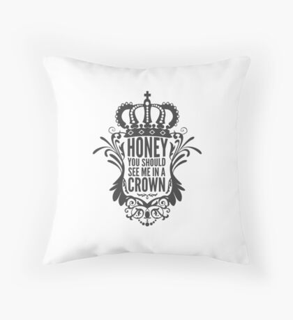 In A Crown - Deluxe Edition Throw Pillow