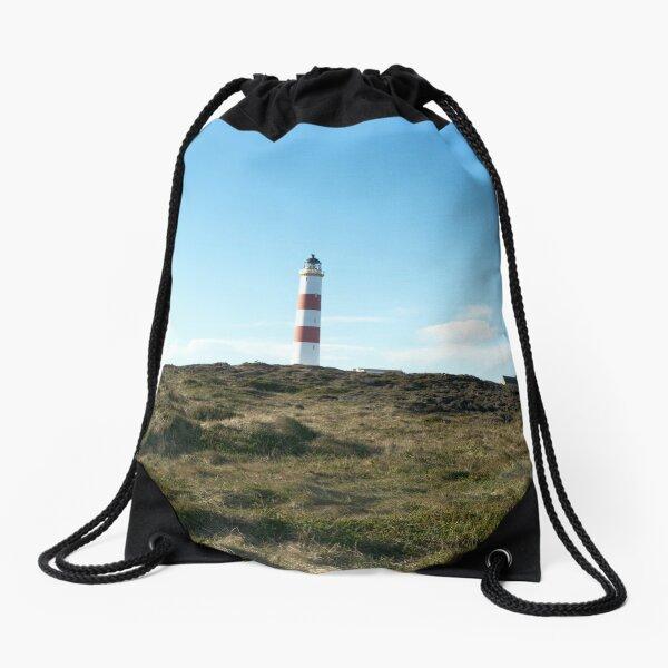 Lighthouse at Tarbet Ness Drawstring Bag