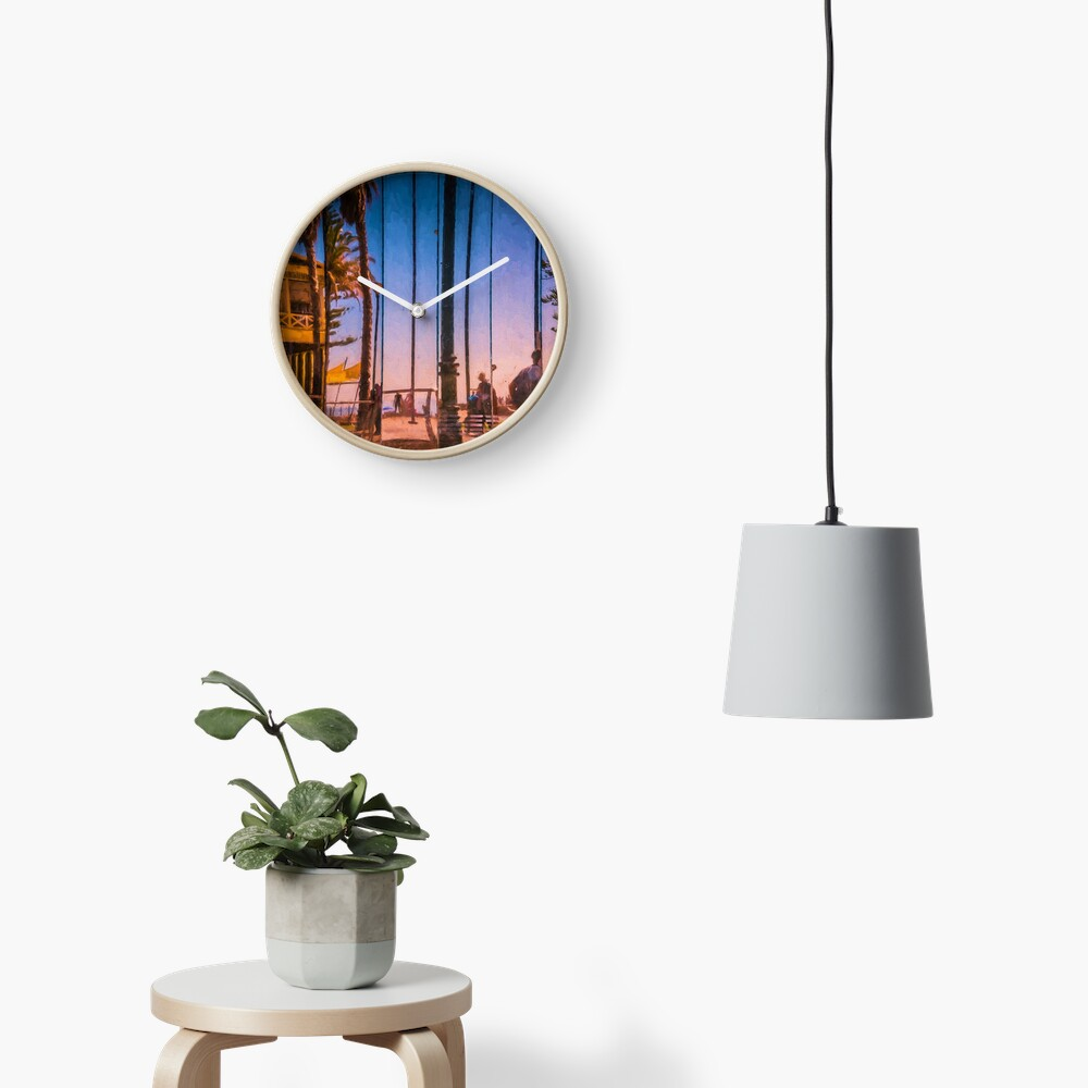 Slices Of Life   (digital painting) Clock