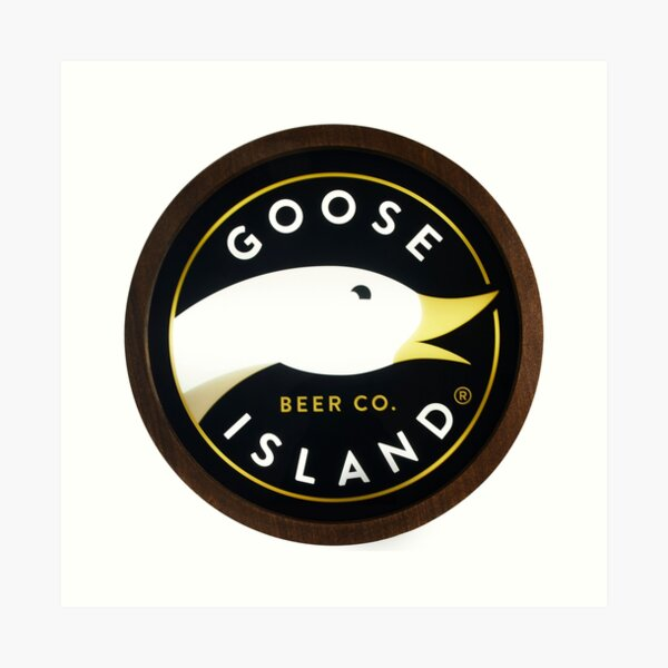 Goose Island Beer logo Art Print