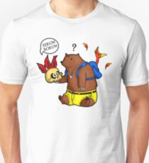 A Confused Bear and his Bird Unisex T-Shirt