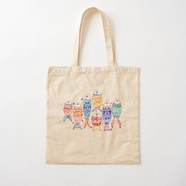 Fish Print  Cotton Tote Bag