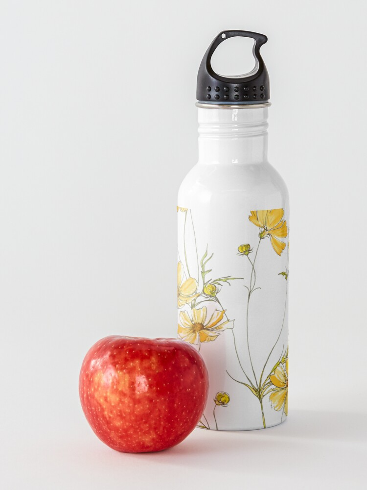 Alternate view of Yellow Cosmos Flowers Water Bottle