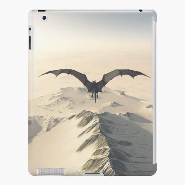 Grey Dragon Flight Over Snowy Mountains iPad Snap Case