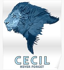 Cecil never forget Poster