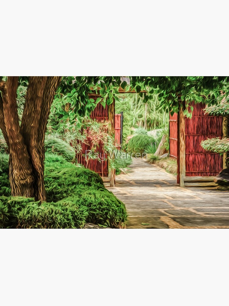 Japanese Gardens  (digital painting) by RayW