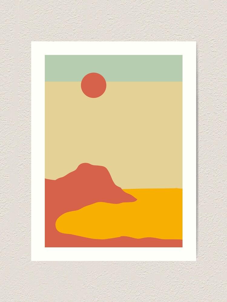 Coast Minimalist Landscape Art Print By Trajeado14 Redbubble
