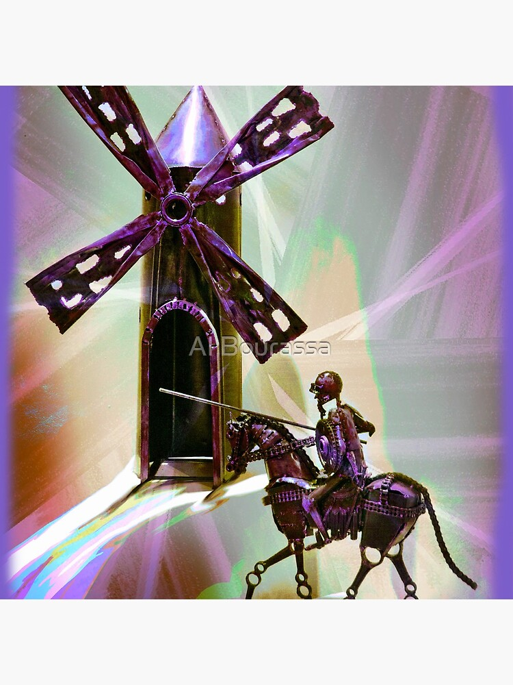 Don Quixote Tilting At Windmills II by alabca