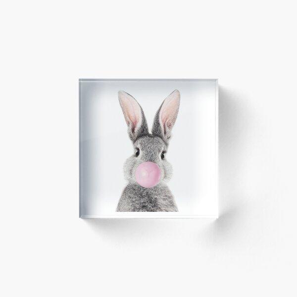 Bunny With Bubble Gum Acrylic Block