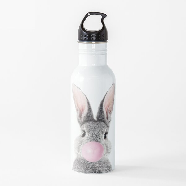 Bunny With Bubble Gum Water Bottle