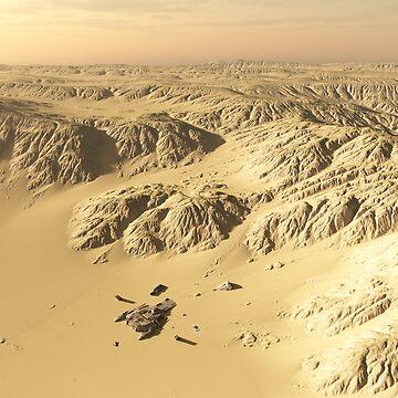 Desert Spaceship Crash Site by algoldesigns