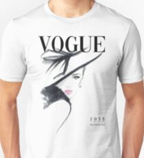 Vogue Fashion Magazine Cover Slim Fit T-Shirt