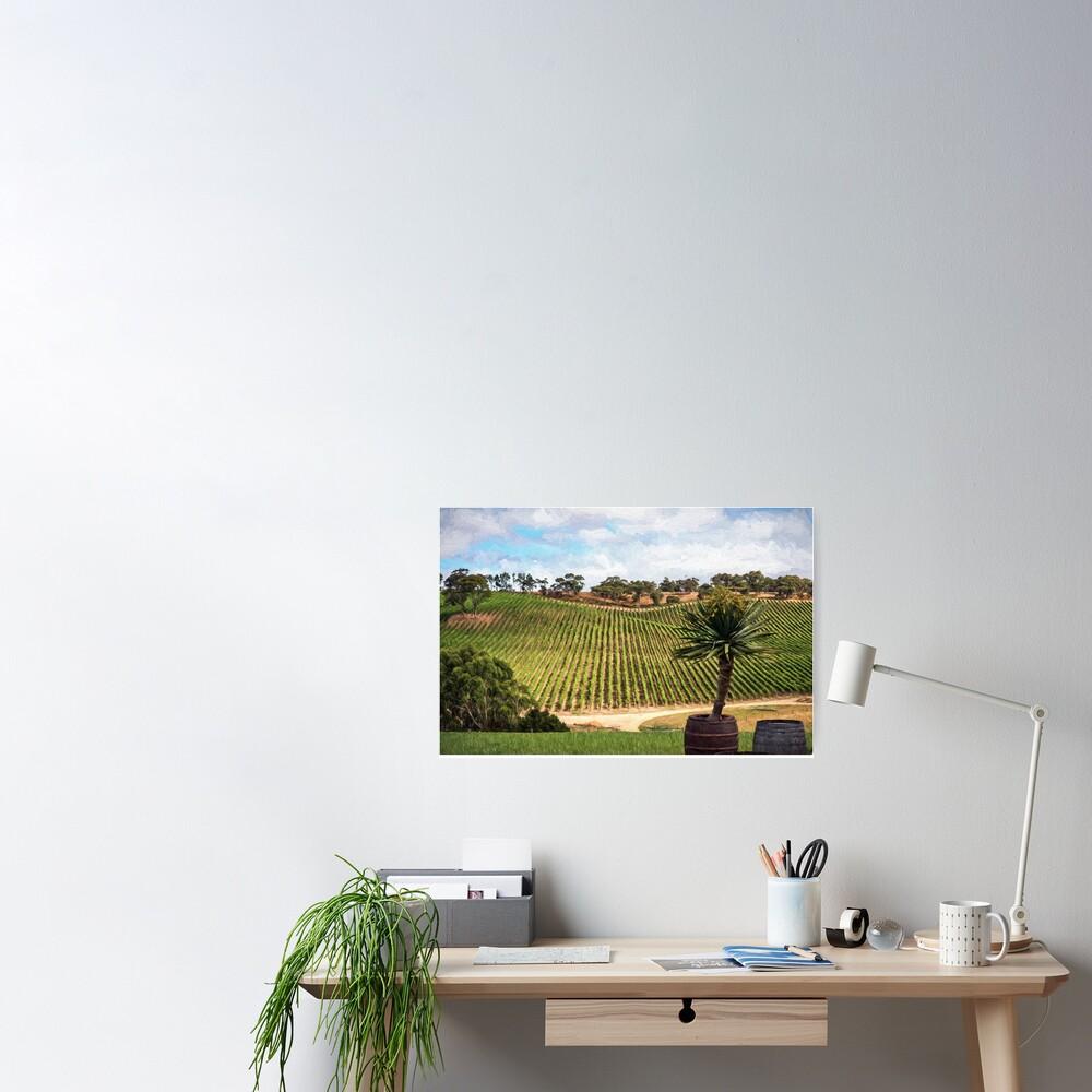 Southern Vineyard (digital painting) Poster