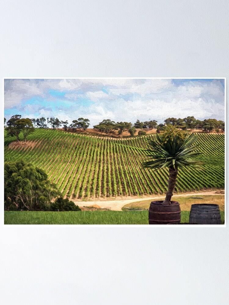 Alternate view of Southern Vineyard (digital painting) Poster