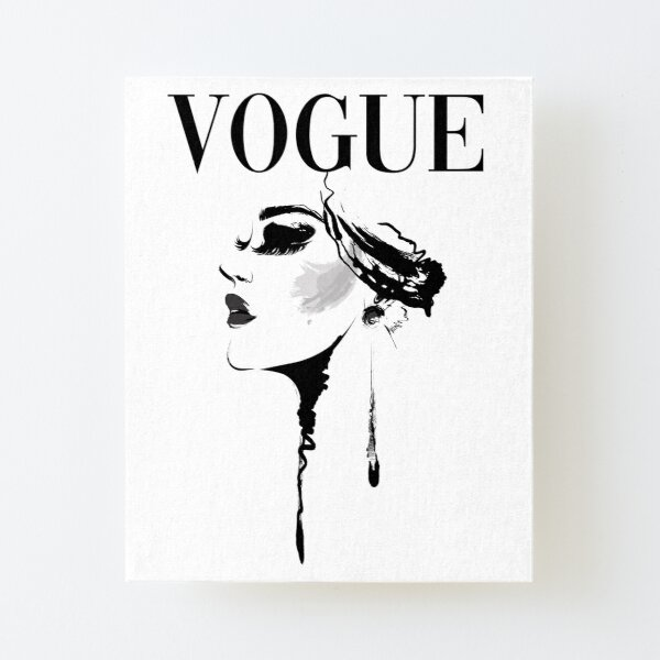 Vogue Magazine Cover Canvas Mounted Print