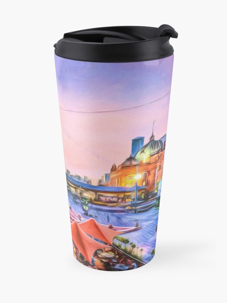 Alternate view of City Sunset II (digital painting) Travel Mug