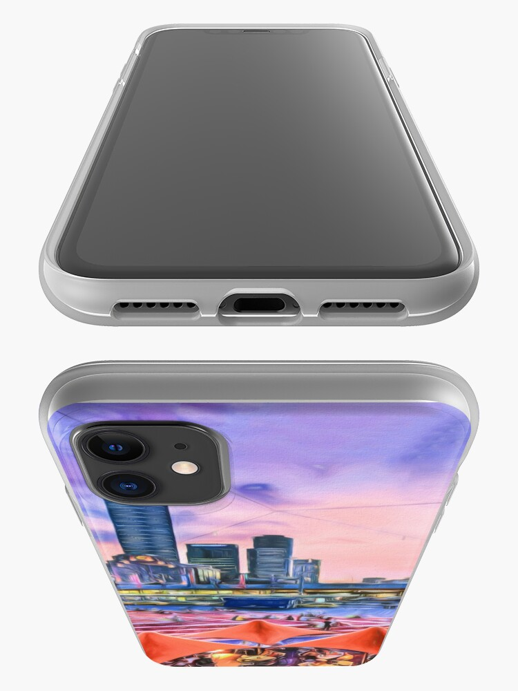 Alternate view of City Sunset II (digital painting) iPhone Case & Cover