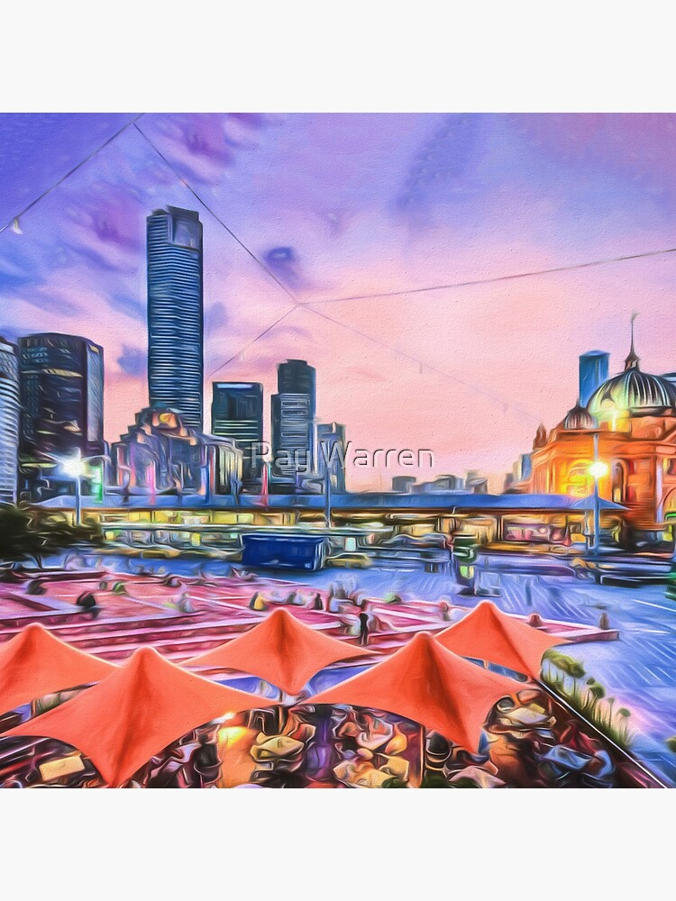 City Sunset II (digital painting) by RayW