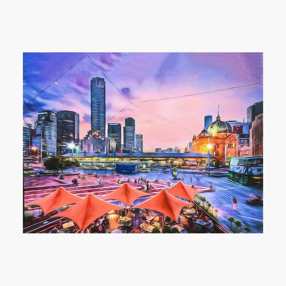 City Sunset II (digital painting) Photographic Print