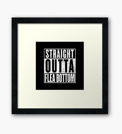 Straight Outta Flea Bottom Framed Print