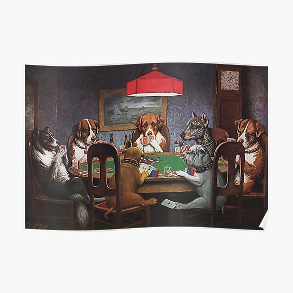 Dogs Playing Poker: A Friend In Need (High Resolution), C.M. Coolidge Poster