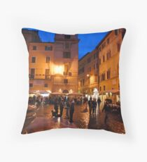 Piazza Navona Throw Pillow