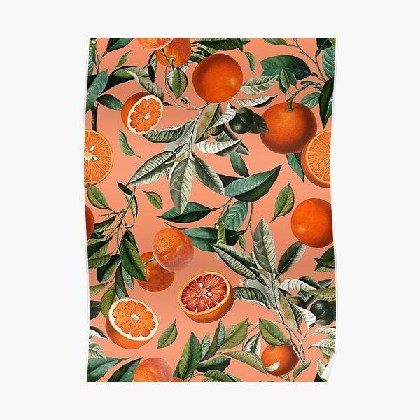 Vintage Fruit Pattern XII Poster