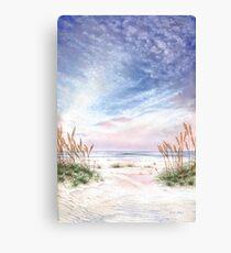 Coastal Morning Colors and Shadows Canvas Print