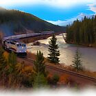 The Rocky Mountaineer - Digital Art by James Anderson