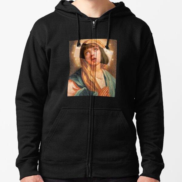 Virgin Mia Damn Pulp Fiction Mia Wallace Camiseta Sudadera con capucha y cremallera