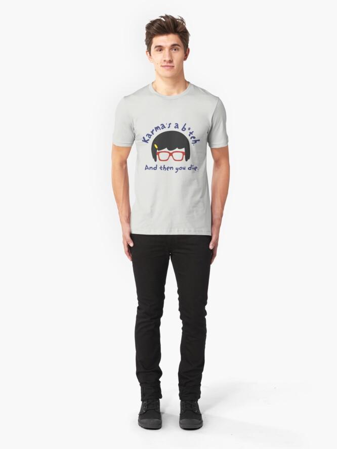 Alternate view of According to Tina, Karma's a B*tch Slim Fit T-Shirt