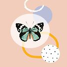 Butterfly, modern abstract composition by ColorsHappiness