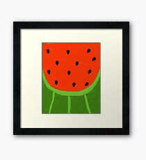 Watermelon Sliced Framed Print