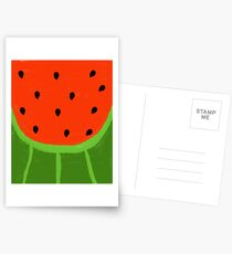 Watermelon Sliced Postcards