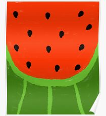 Watermelon Sliced Poster