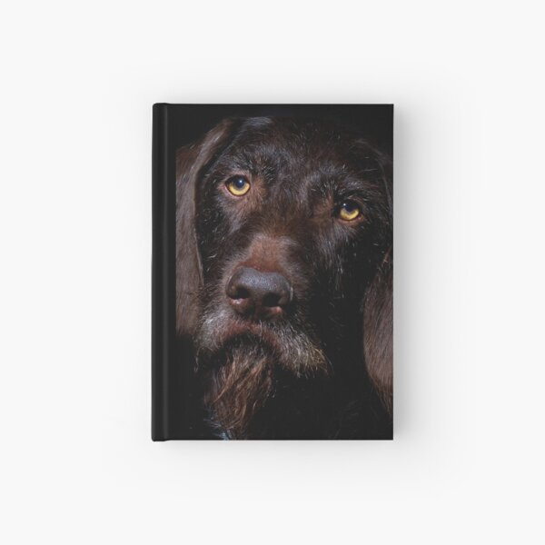German Wirehaired Pointer Portrait Hardcover Journal