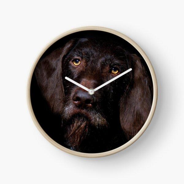 German Wirehaired Pointer Portrait Clock