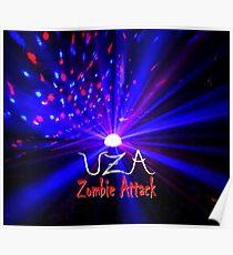 UZA Zombie Attack Light Blue Poster