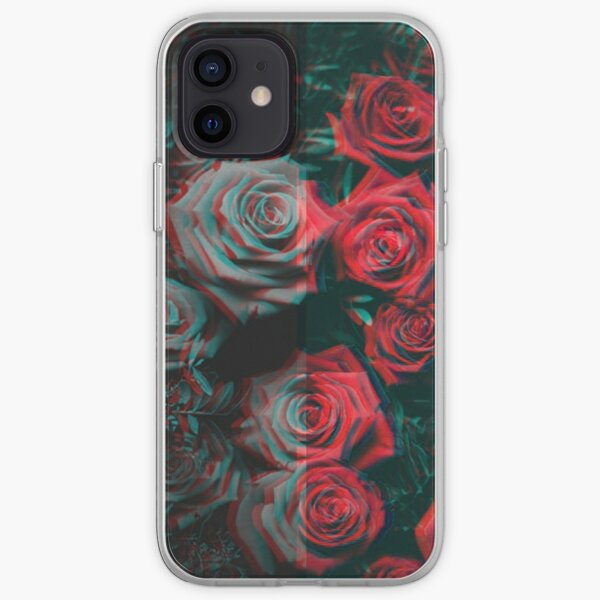 trippy drained roses iPhone Soft Case