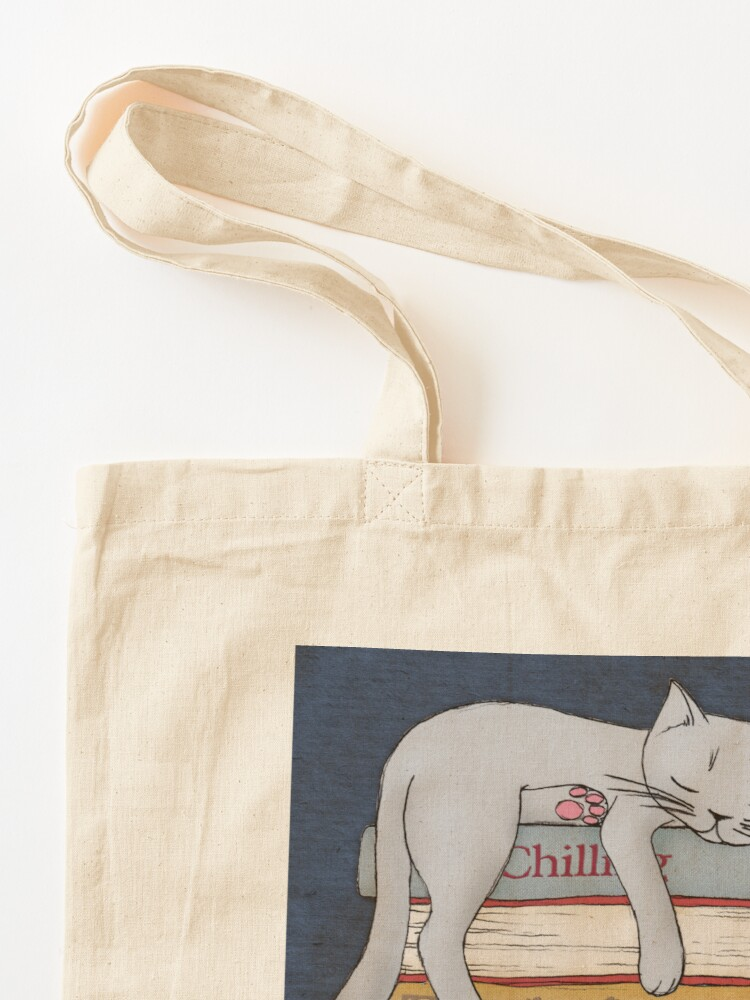 Alternate view of How to Chill Like a Cat Tote Bag