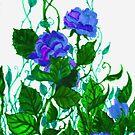 Blue Purple Green by Rebecca Tripp