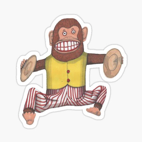 Monkey, Clapping Monkey, classic wind up toy. Sticker