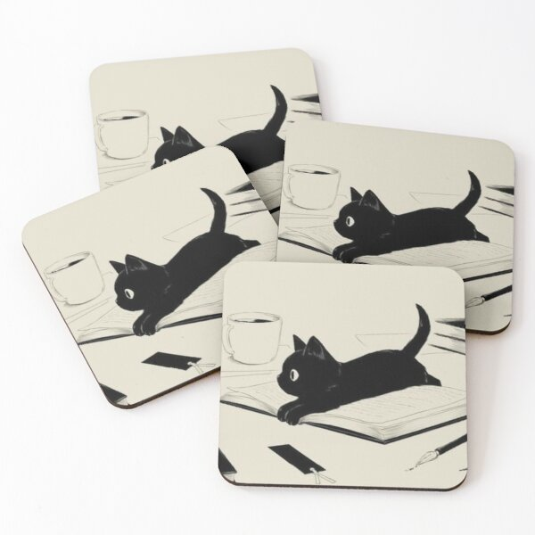 Little Cat Coasters (Set of 4)