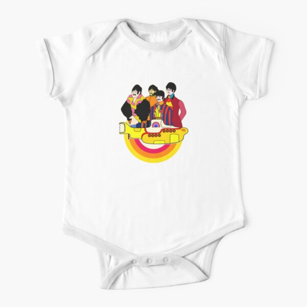 Yellow Submarine - Pop Art Short Sleeve Baby One-Piece