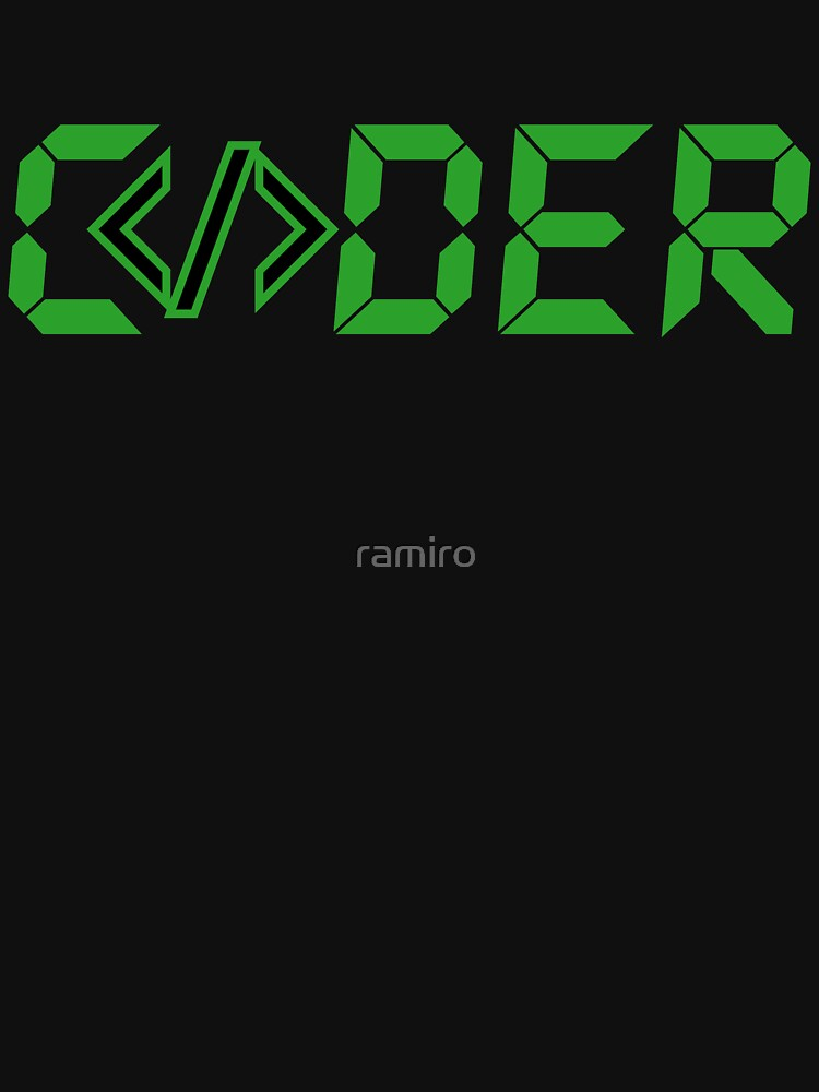 C</>der - Green Digial Font Design for People who Write Code by ramiro