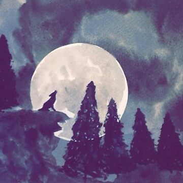 Night Time Wolf by Taylorsdrawings