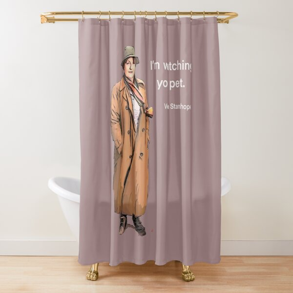 I'm watching you pet.   Shower Curtain