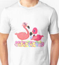 Pink Flamingos Easter T-Shirt